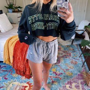 [champion] unc charloette cropped hoodie